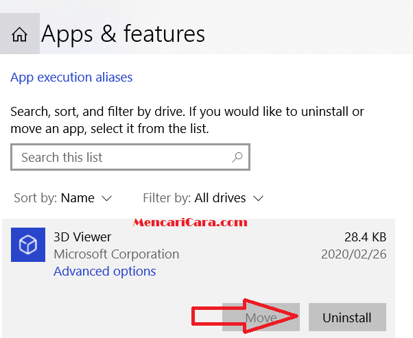 Cara Uninstall Aplikasi di Laptop PC