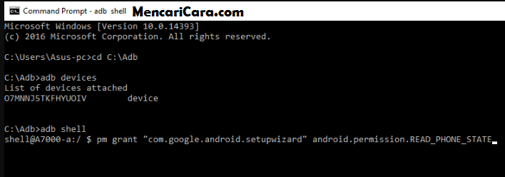 cara mengatasi setup wizard has stopped working